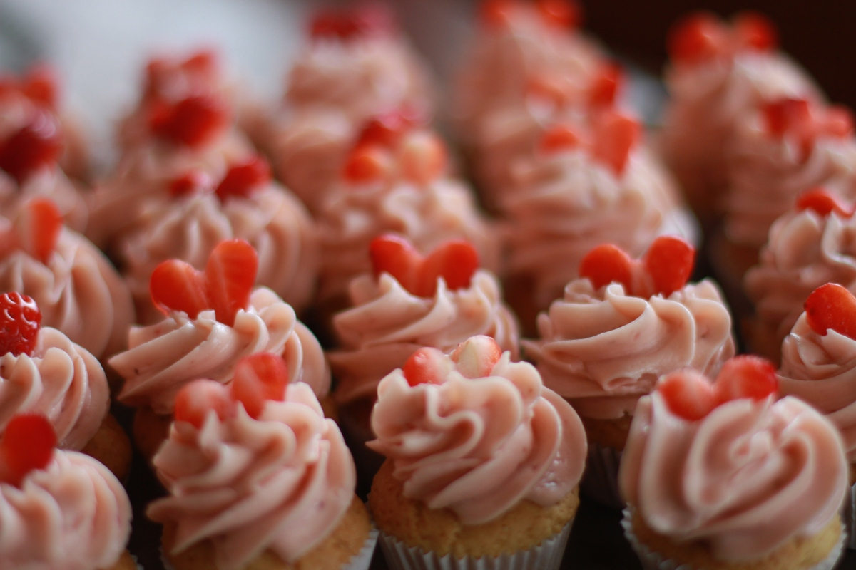 Cupcakes með Sviss marenge kremi